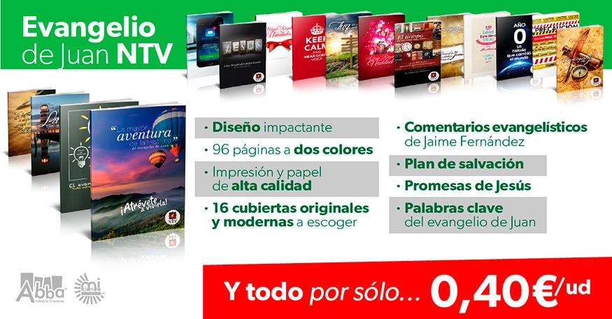 ¡Evangelios de Juan con portadas creativas a sólo 0,40€!