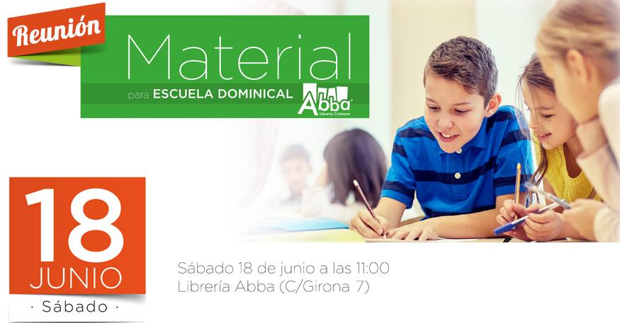 Reunión sobre el nuevo material para la escuela dominical en Librería Abba