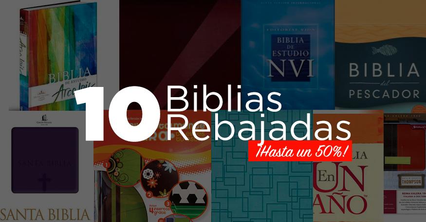 [Oferta Limitada] 10 Biblias rebajadas, ¡algunas hasta un 50%!