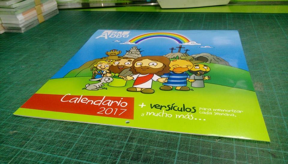 Primeras imágenes del nuevo calendario de pared para niños